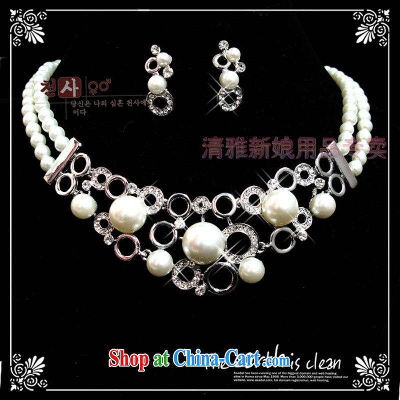 Bridal jewelry/flash drill Pearl luxury suite link TL 3079 bridal suite link gold ear clip