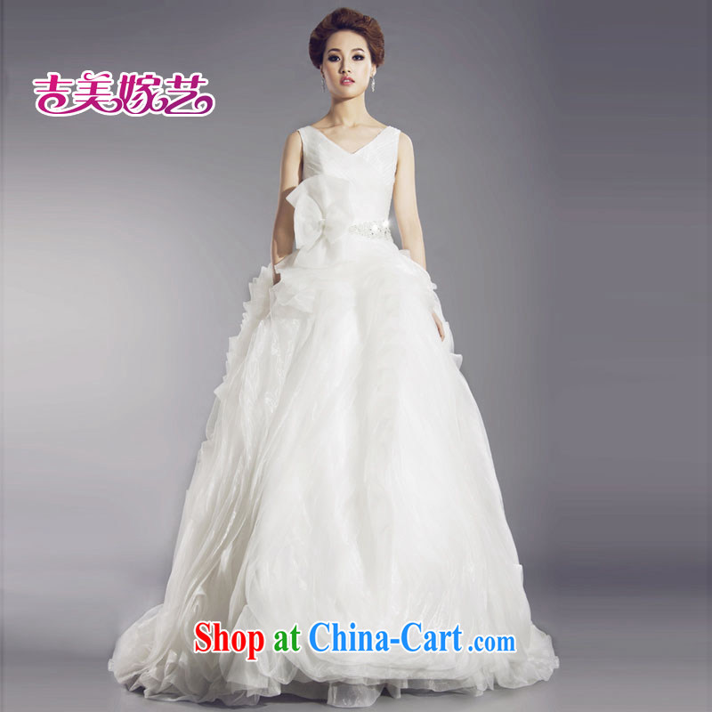 Jimmy married art vera wang white shoulders graphics thin new real-time shot wedding dresses HT 635 bridal wedding white XL