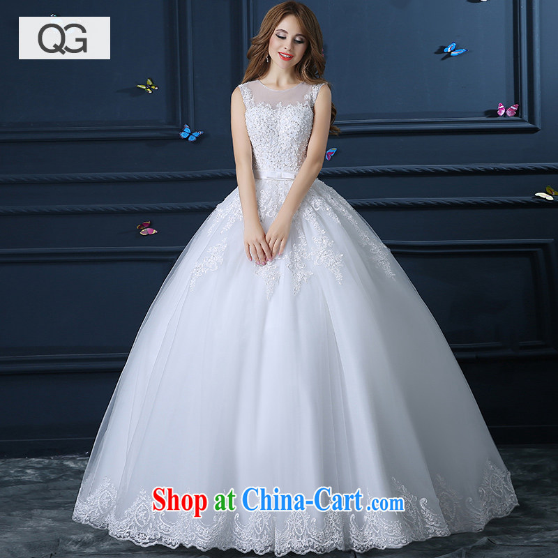 wedding dresses 2015 summer new Korean-style minimalist shoulders with graphics thin bride married a Field shoulder wedding with XXL paragraph
