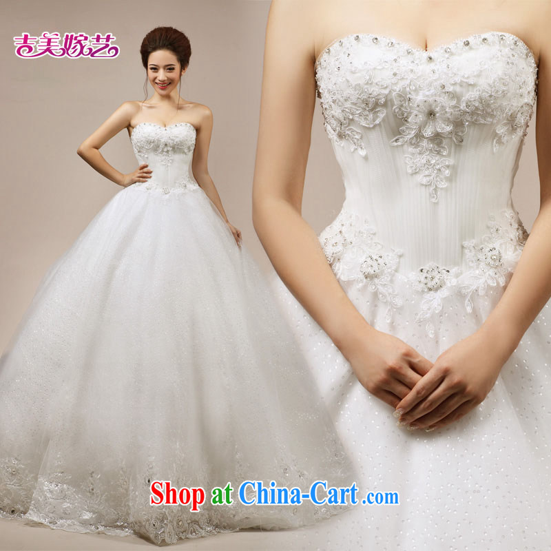 wedding dresses, marry us performing arts 2015 new Korean wiped chest shaggy dress 7120 with bridal wedding tail M