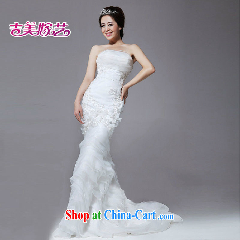 Jimmy married art vera wang Wang Wei style crowsfoot flowers graphics thin wedding dresses only HS 648 wedding white XL
