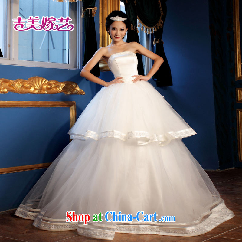 Korean version of the new ultra-cute manually the pearl bridal Korean bridal wedding dresses HS 300 bridal wedding white XXL