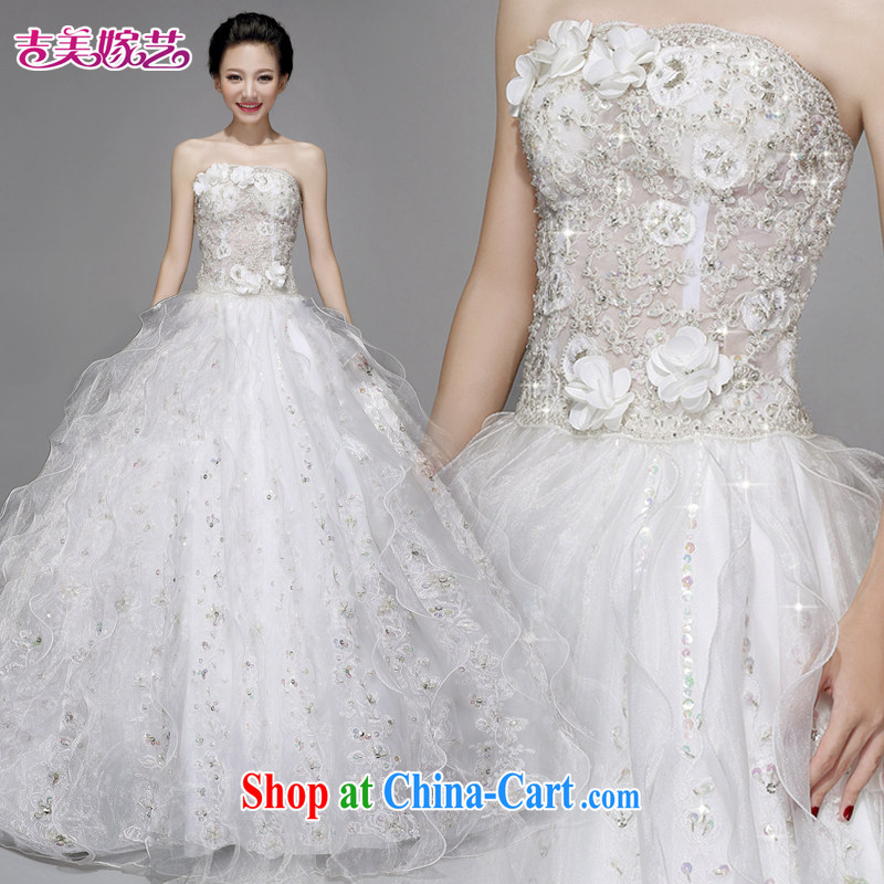 wedding dresses Jimmy married arts 2015 new erase chest Korean shaggy dress beauty with AS 211 bridal wedding white XXXL