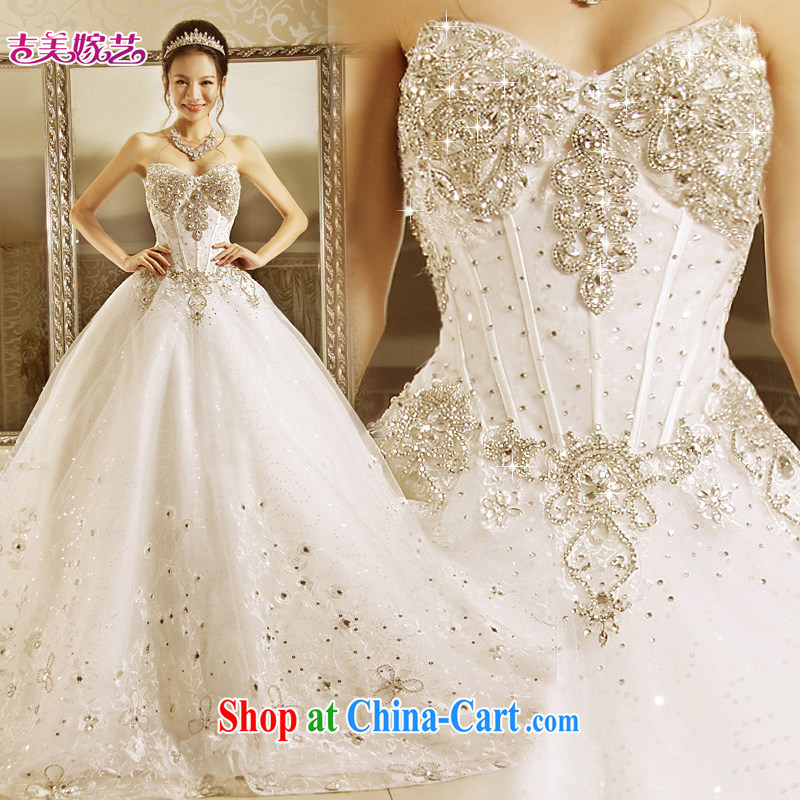 wedding dresses Jimmy married arts 2015 new Korean version Mary Magdalene Princess chest shaggy dress with HT 7152 bridal wedding with L