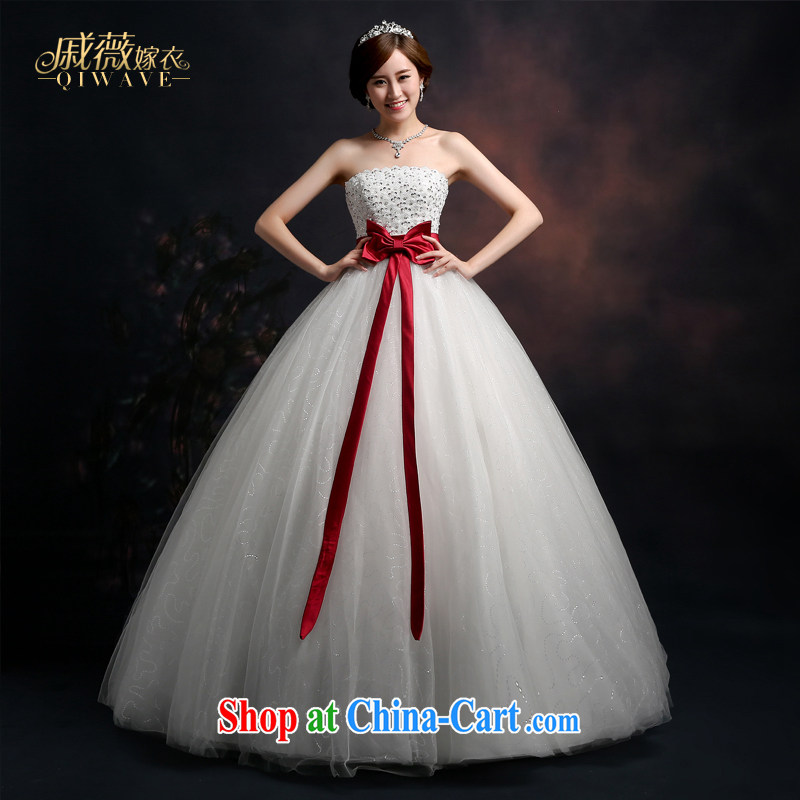Wei Qi 2015 summer bridal wedding dresses wedding dress Korean wedding white bare chest strap the code with shaggy dress women get married wedding female white XXL