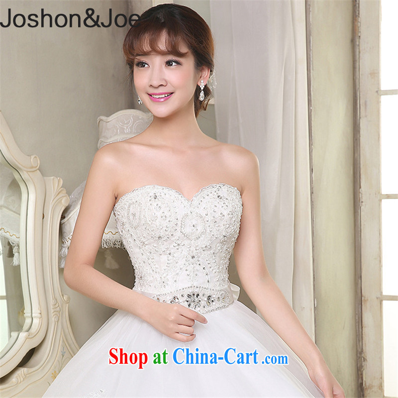joshon _Joe new Web yarn with wedding flow, light drill long bridal gown is not the accessories L