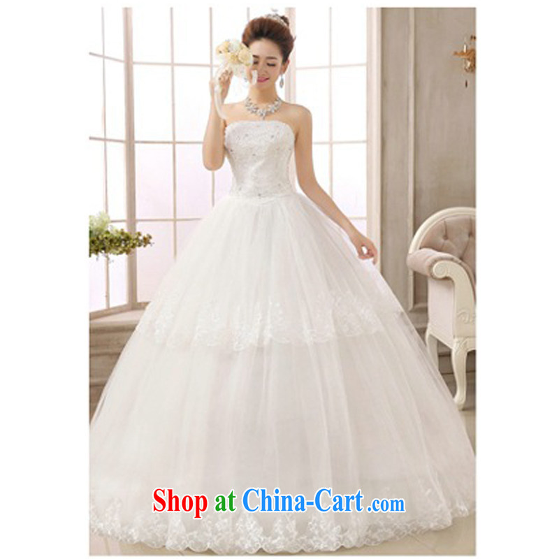 2015 new wedding fish bone shape 6 layer skirt with two-tier lace manually seamless drill lace lace bridal graphics thin smears chest wedding dresses white XL