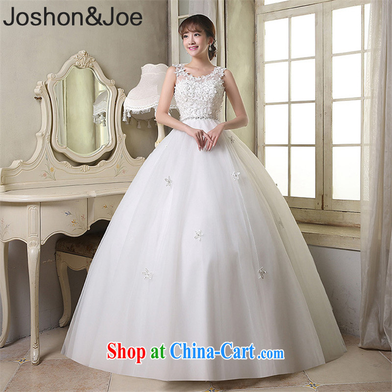 joshon &Joe new Web yarn with wedding shoulders flowers back biological empty picture color L