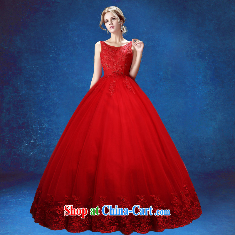 wedding dresses with bridal suite 2015 summer new, Korean-style embroidery bridal red code shoulders graphics thin wedding dress red tailored final 7 day
