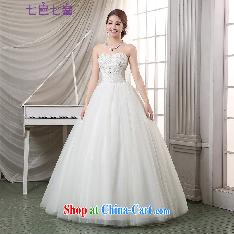 7 color 7 tone Korean version 2015 new bride white wood drill Mary Magdalene Beauty Chest with wedding dresses H 080 white tailored (final)
