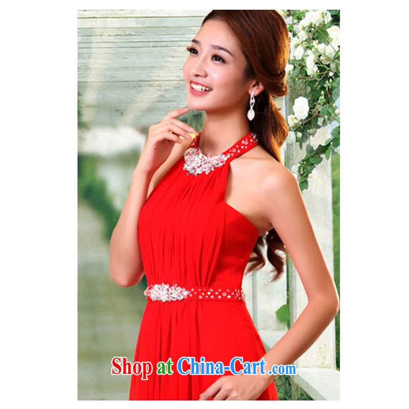 2015 new summer red bridal Long is also fall on the bare chest toast serving Korean version the code stylish graphics thin dress red XXXL