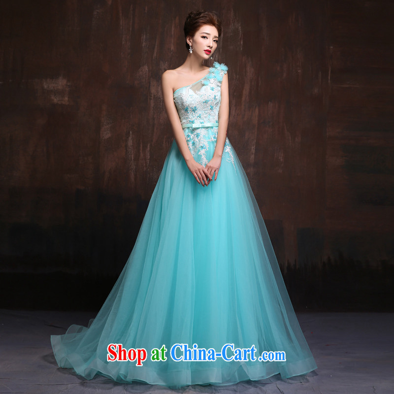 sin Sin better edge 2015 stylish new wedding dresses, shoulder sweet long-tail bridal wedding dress skirt ice blue L quality assurance