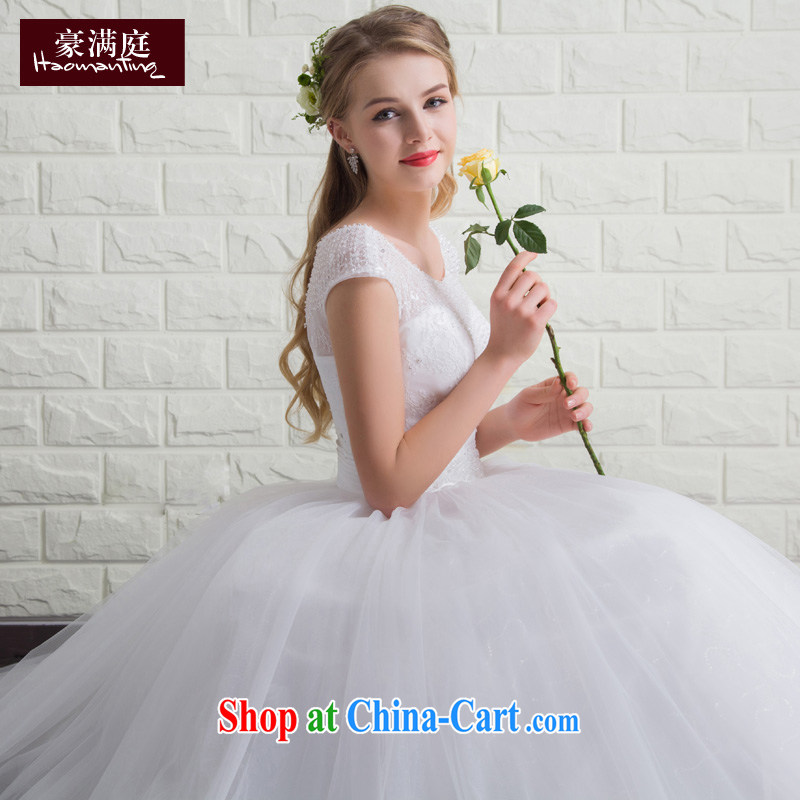 Ho full Chamber bridal wedding dresses 2015 new summer shoulders with wedding dresses stylish and simple large code beauty marriage white XL
