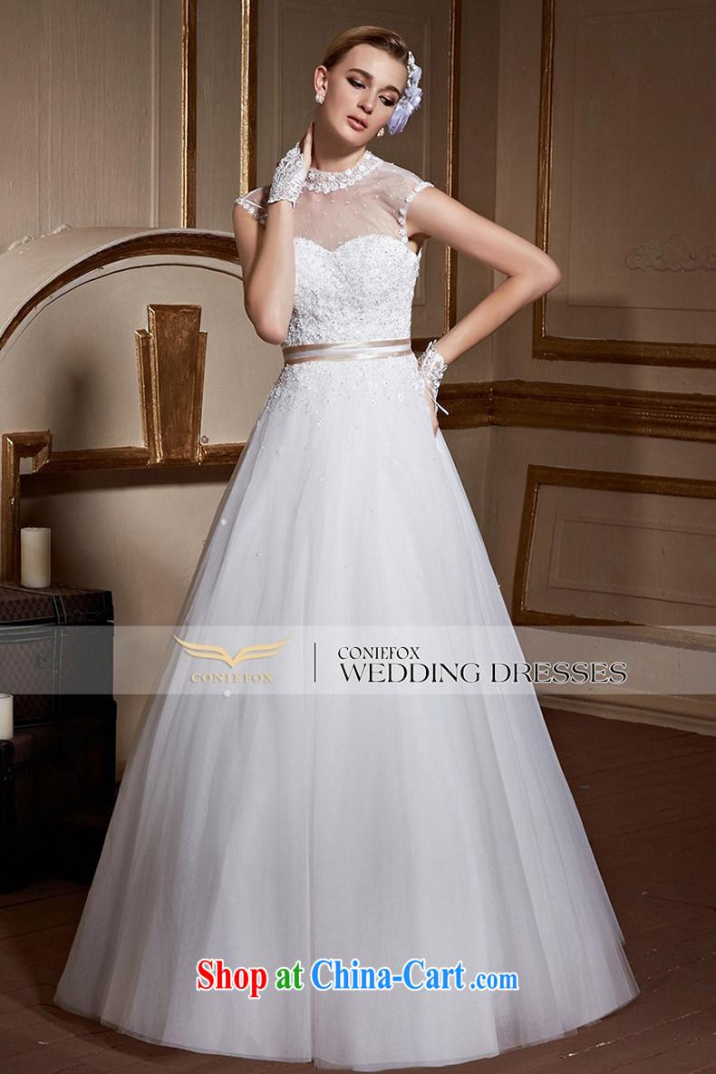 Creative Fox and stylish high-collar erase chest wedding dresses ...