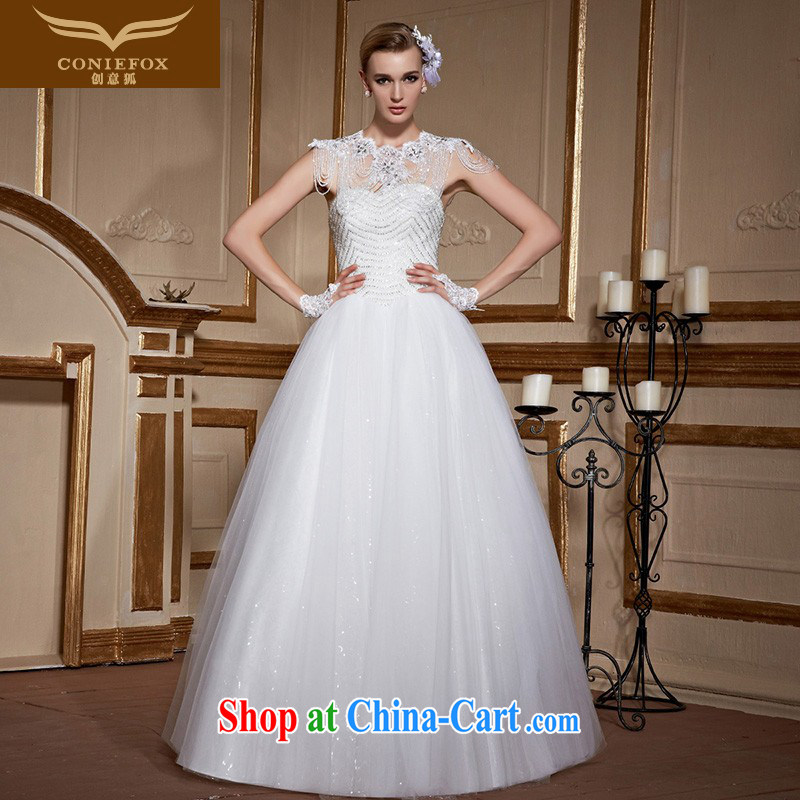 Creative Fox white bare chest parquet drill wedding dresses brides with wedding stylish and simple marriage wedding beauty with advanced custom wedding 99,050 white tailored