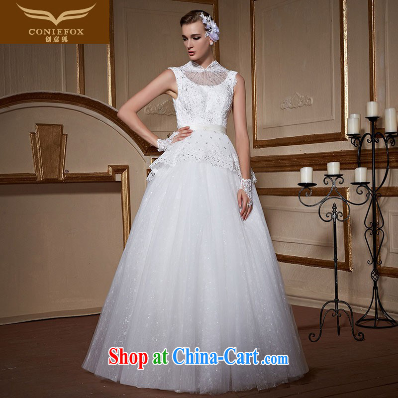 Creative Fox stylish shoulders is also bridal wedding dresses and elegant lace inserts drill marriage with wedding, cultivating a tailored wedding 99,051 white tailored