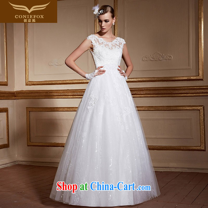 Creative Fox stylish shoulders back exposed wedding dresses elegant lace With marriages wedding white minimalist advanced custom wedding 99,056 white tailored