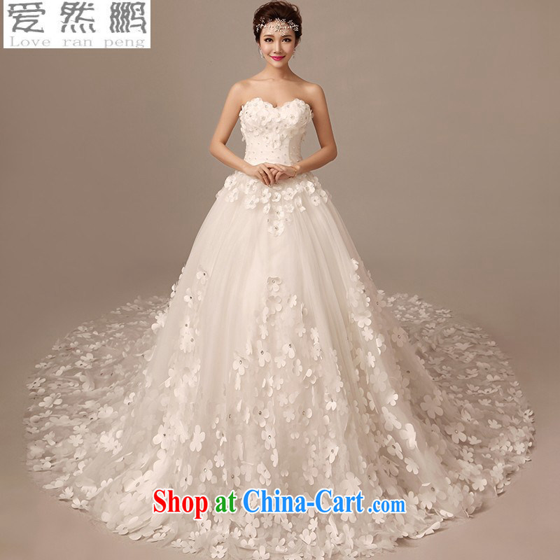 Summer 2015 new bridal wedding dresses long-tail wiped his chest cultivating the code with the flower-tail custom white 50 CM drag and drop it to size is not returned.