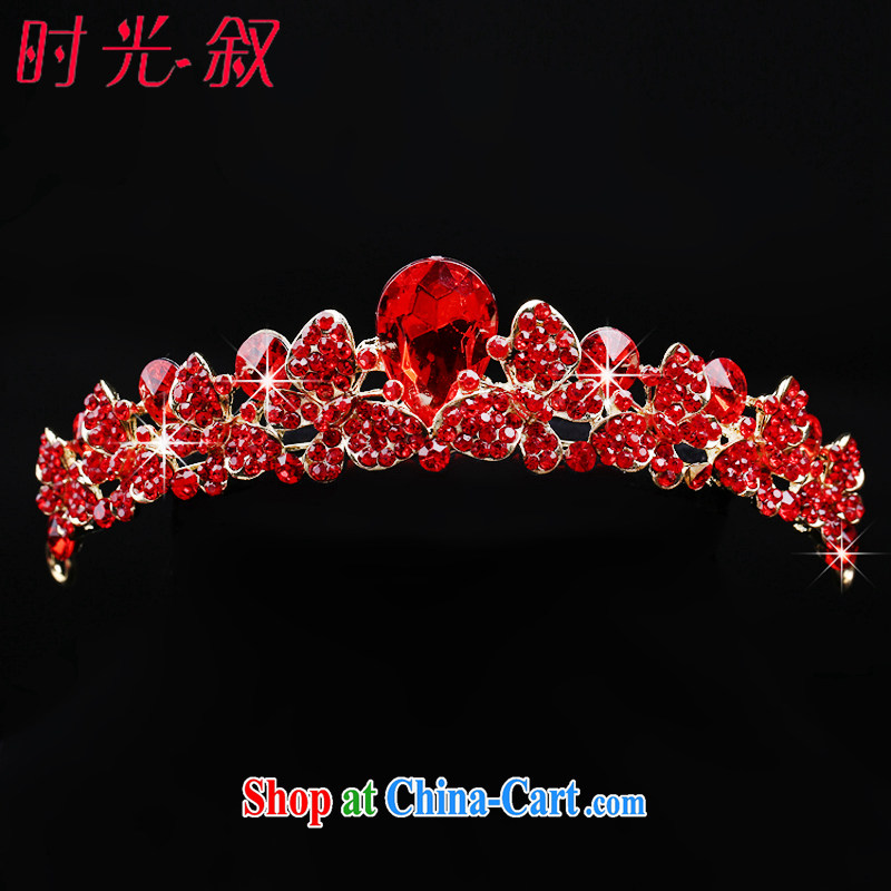 Time Syrian arab red bridal tiaras Crown necklace earrings 3-piece kit butterfly jewelry hair accessories wedding wedding accessories jewelry Crown