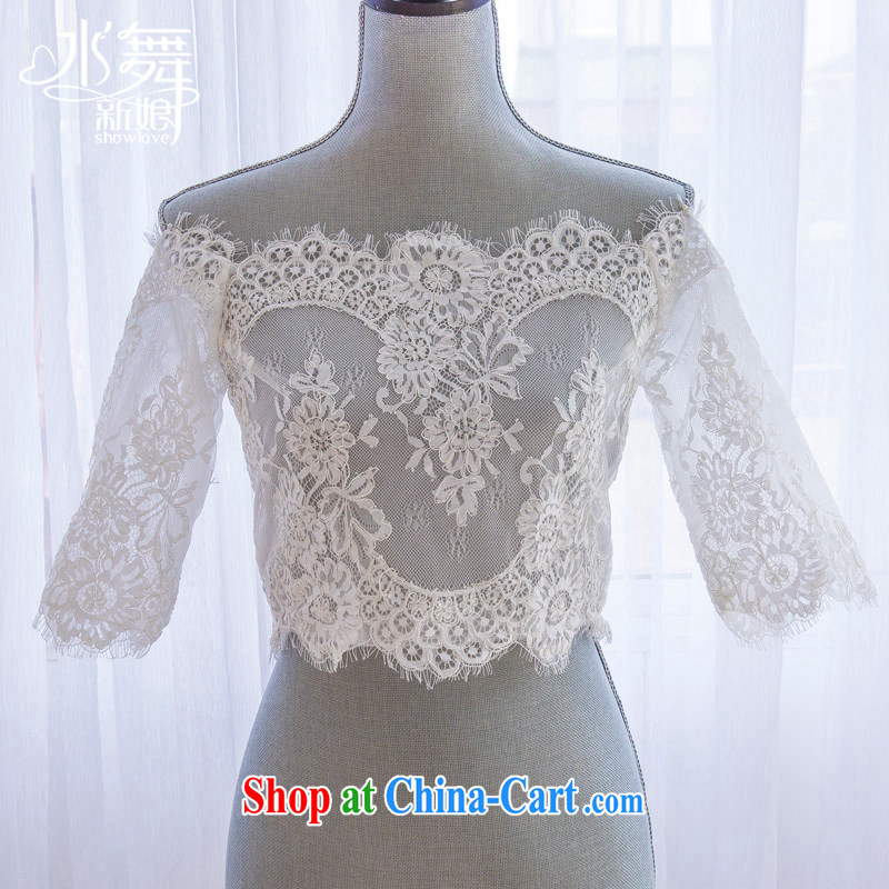 Water dance bridal lace flowers field shoulder strap small jacket wedding shawl summer wedding accessories