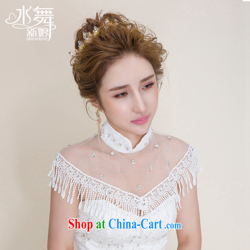 Water dance bride's high-end lace water drill class, wedding shawls wedding accessories field shoulder P 0077 gift boxed