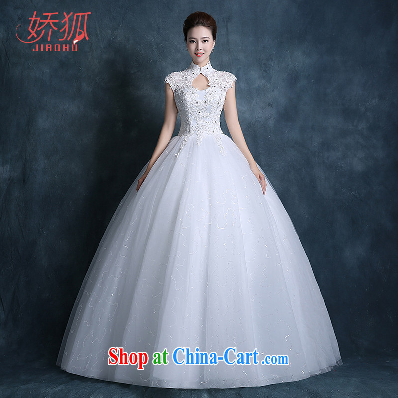 Air Fox wedding dresses fall 2015 new Korean bridal graphics thin beauty dresses for larger lace with parquet drill white XXL