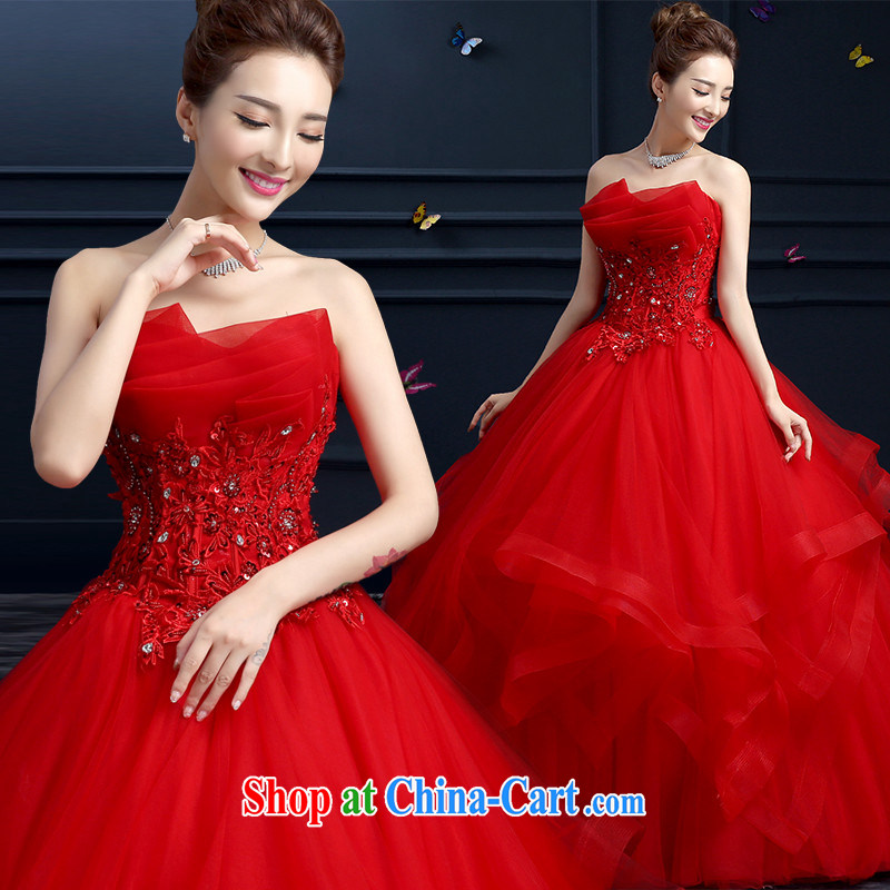Products hannizi 2015 spring and summer red bare chest straps stylish new large Code Red with bridal wedding red XXL