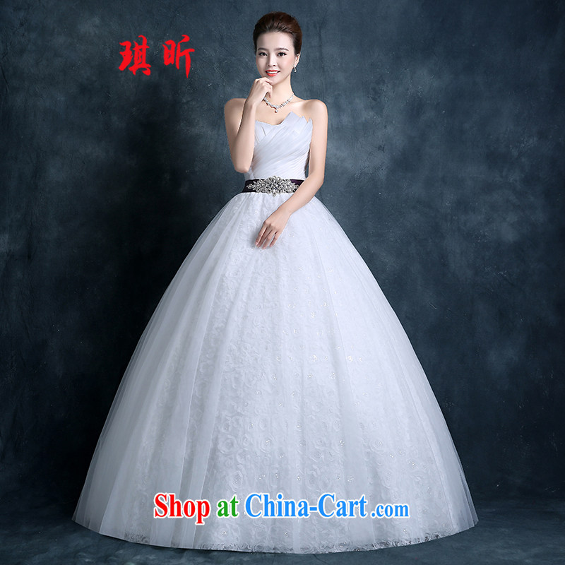 Angel year wedding dresses 2015 summer wiped his chest to marriages beauty graphics thin new Princess wedding, parquet drill white XXL