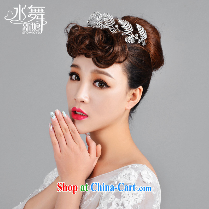 Water dance bride leaves water drilling luxury bridal crown in Europe and America show up crown wedding accessories A 1031 gift boxed