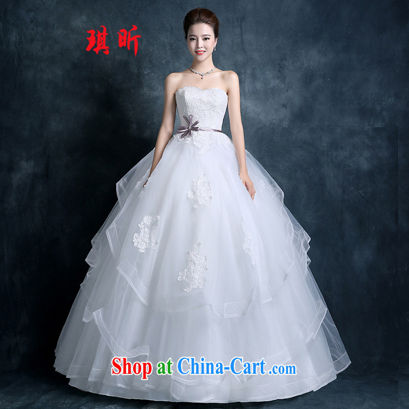 Angel Celia wiped chest wedding dresses 2015 new autumn fashion Korean version the code graphics thin marriages lace with Princess white XXL