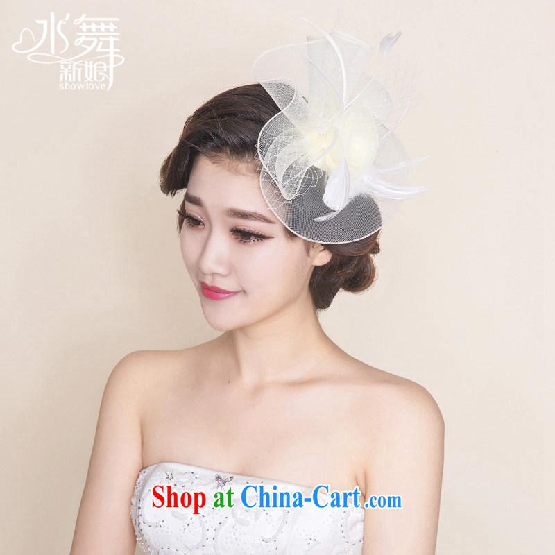 Water dance bride euro-retro name Yuan Web yarn hats and feather caps B 0758 yarn bag