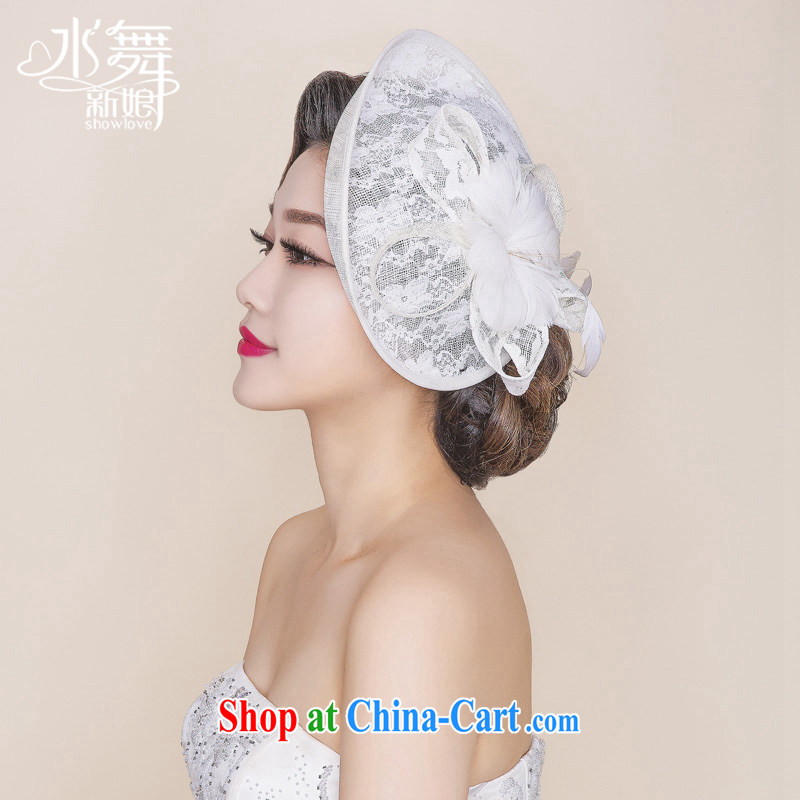 Water dance bridal retro hat feather buds mesh cap head-dress wedding dresses accessories B 0757 gift boxed, water dance, shopping on the Internet