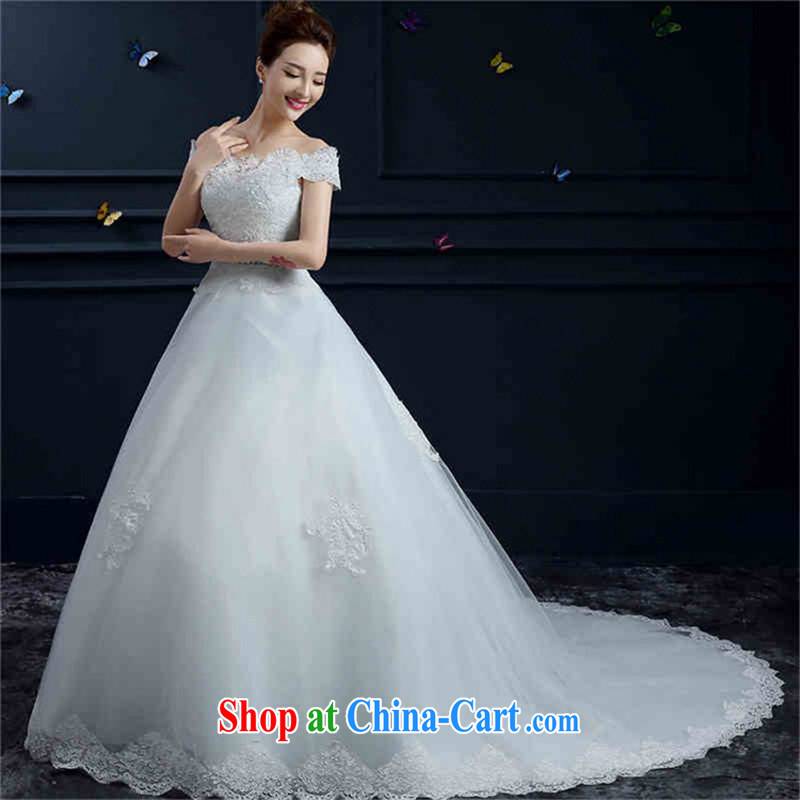 Products hannizi 2015 spring and summer new married Yi, stylish and a shoulder strap with beauty bridal wedding white tail, XXL