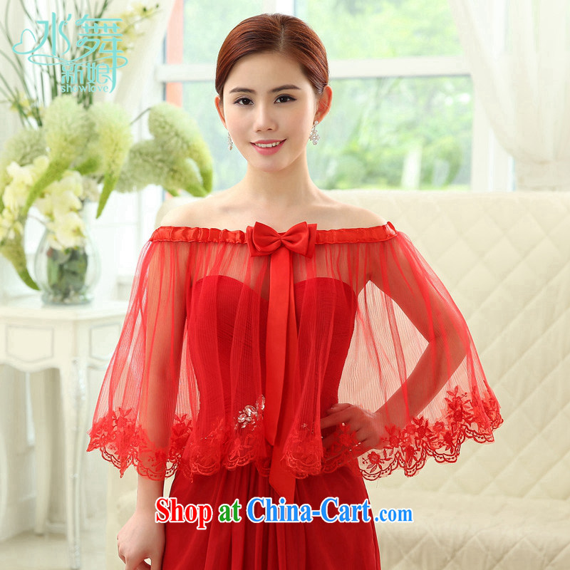 Water dance bridal red lace lace summer gauze shawl stuff dress uniform toast shawl jacket P 0028