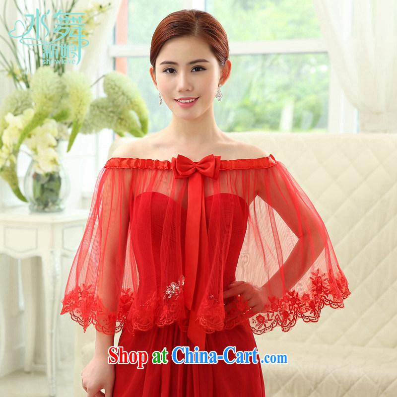 Water dance bridal red lace lace summer gauze shawl stuff dress uniform toast shawl jacket P 0028