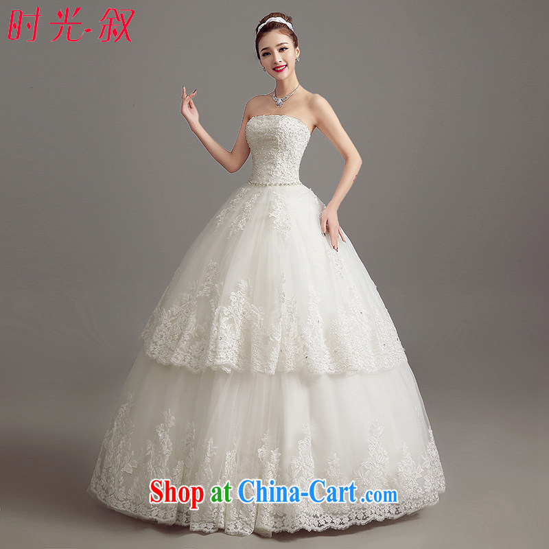 his time in summer 2015, Japan and the Republic of Korea wedding dress the code wedding dresses new bride sexy bare chest marriage with beauty graphics thin wedding female white XXL