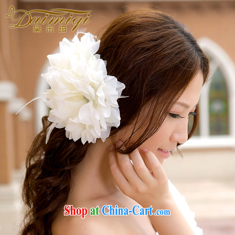 Diane M Ki wedding photo building performances choral bridal bridesmaid/bride's chest flower/Wrist flower/head will be 3 a/Head flower white